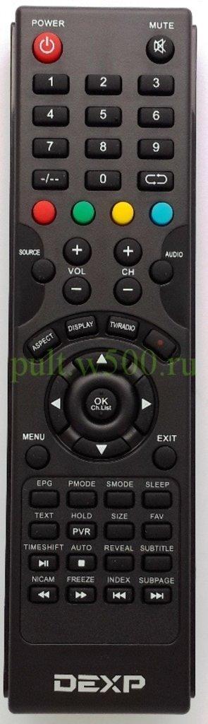 DEXP: Пульт DEXP XHY918 Supra (LCD 32A3000, 32A3100)  оригинал в A-Центр Пульты ДУ