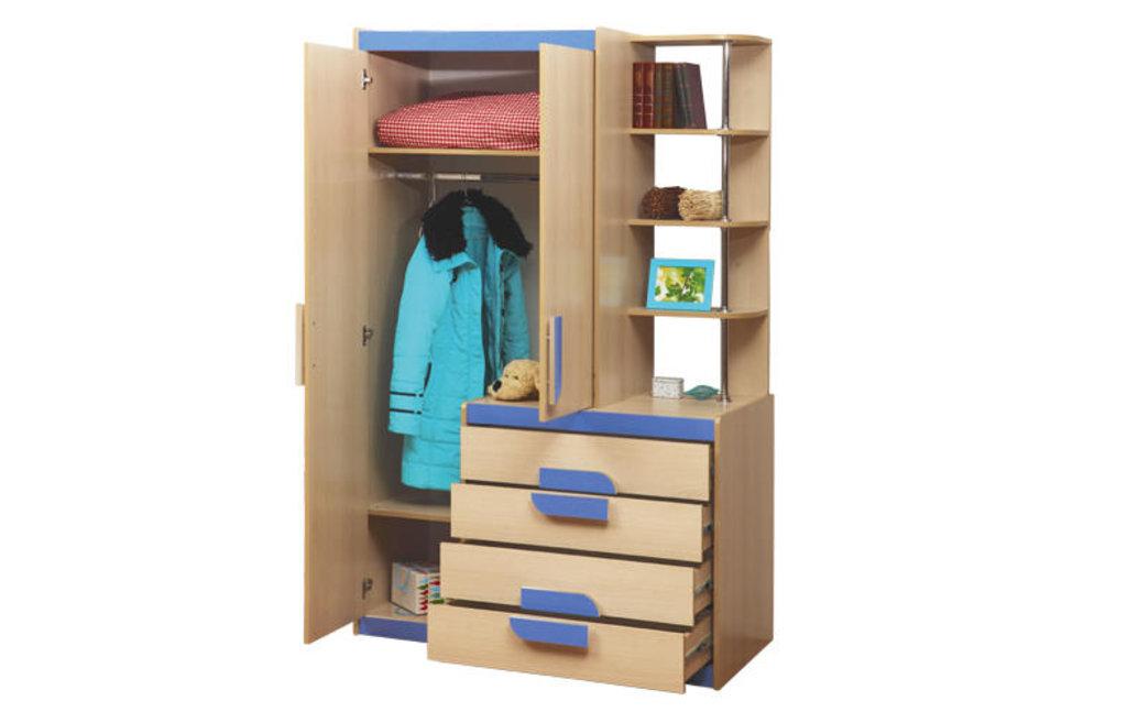 Детские: Шкаф детский комбинированный Лайф-1 голубой в Vesa