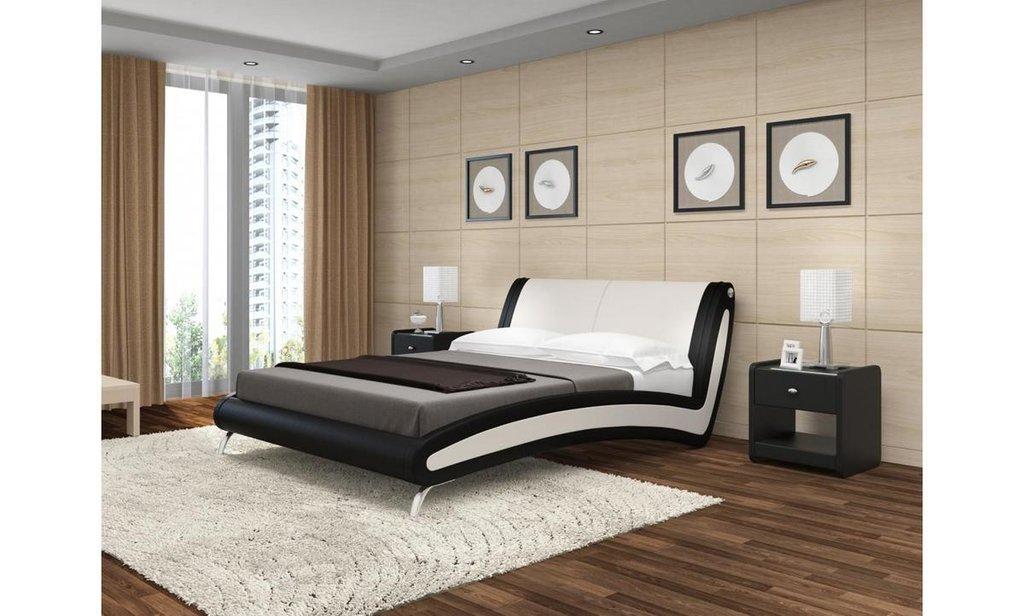 Кровати: Кровать двойная из экокожи Мальта в Уютный дом