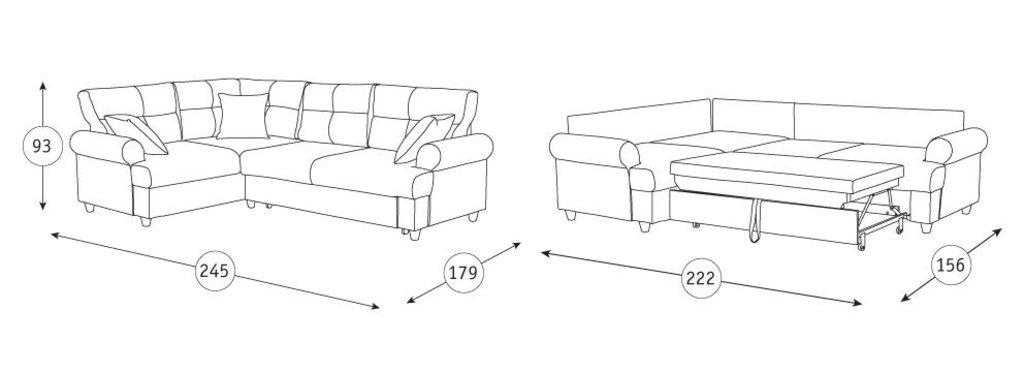 Диваны Мирта: Угловой диван-кровать Мирта Арт. 308/1 в Диван Плюс