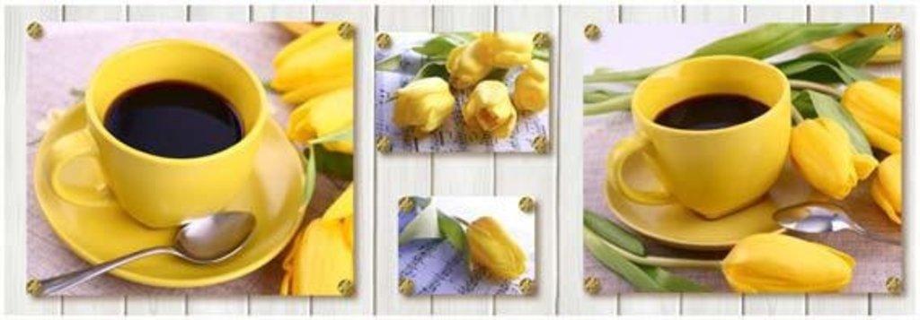Фартуки ЛакКом 4 мм.: Жёлтые тюльпаны в Ателье мебели Формат