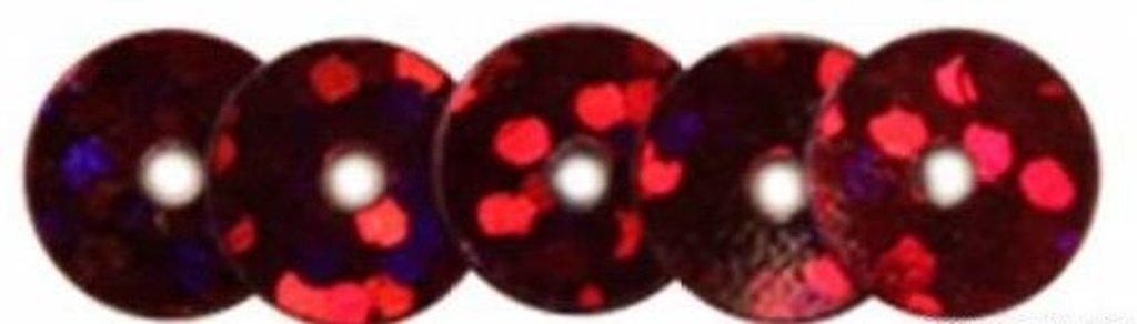Плоские 6мм.: Пайетки плоские 6мм.упак/10гр.Астра(цвет:50103 красный голограмма) в Редиант-НК