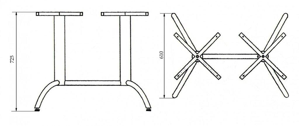 Подстолья для столов.: Подстолье 0012АН (металлик, чёрный, коричневый золото) в АРТ-МЕБЕЛЬ НН