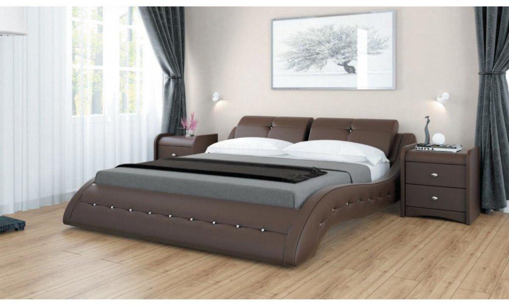 Кровати: Кровать Аврора двойная из экокожи в Уютный дом