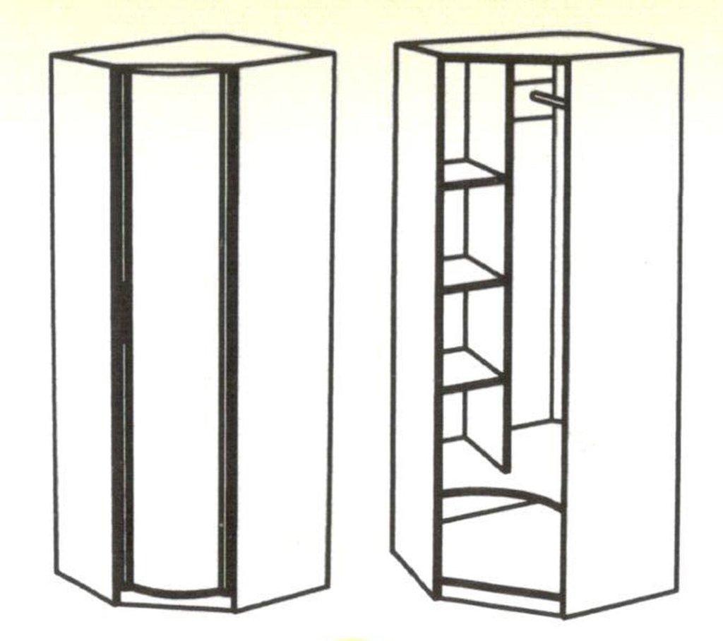Шкафы для одежды и белья: Шкаф угловой Кристина в Стильная мебель