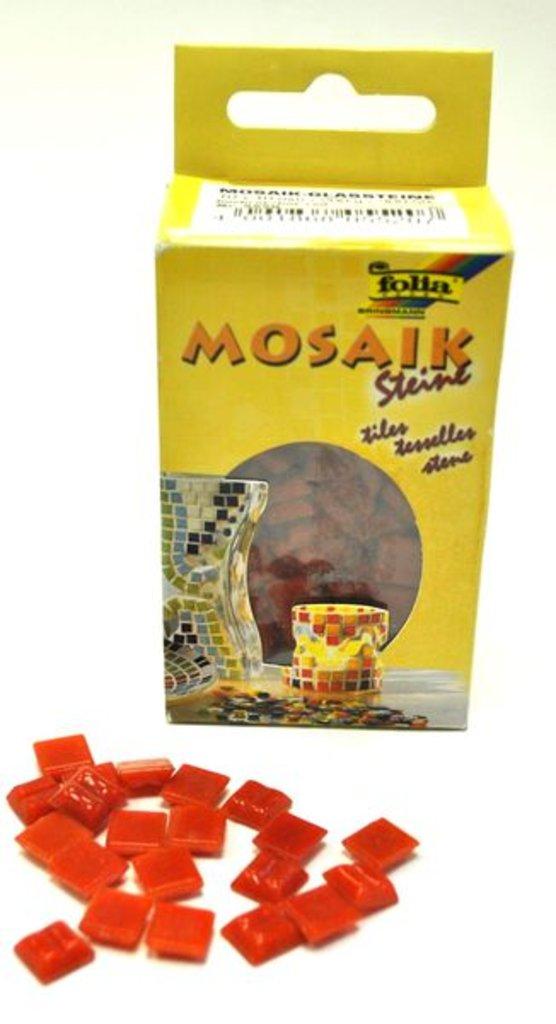 Мозаика: Folia Набор стеклянной мозаики, 1х1см, 300шт., красный в Шедевр, художественный салон
