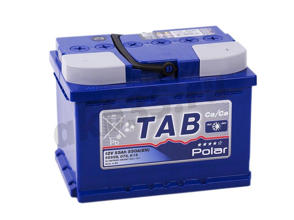 Аккумуляторы: TAB POLAR 6СТ-55 /О.П./ низкий в Планета АКБ