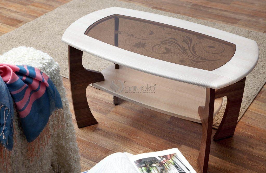 Журнальные и кофейные столики: Журнальный столик Маджеста - 3 с пескостр в Стильная мебель