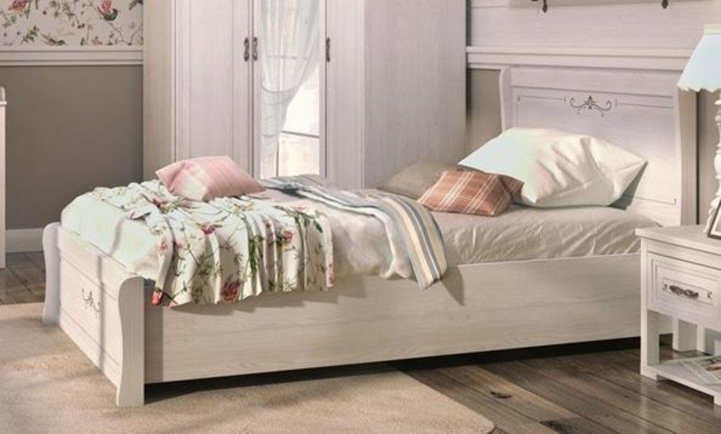 Кровати: Кровать полуторная Афродита (1200, орт. осн. дерево) в Стильная мебель