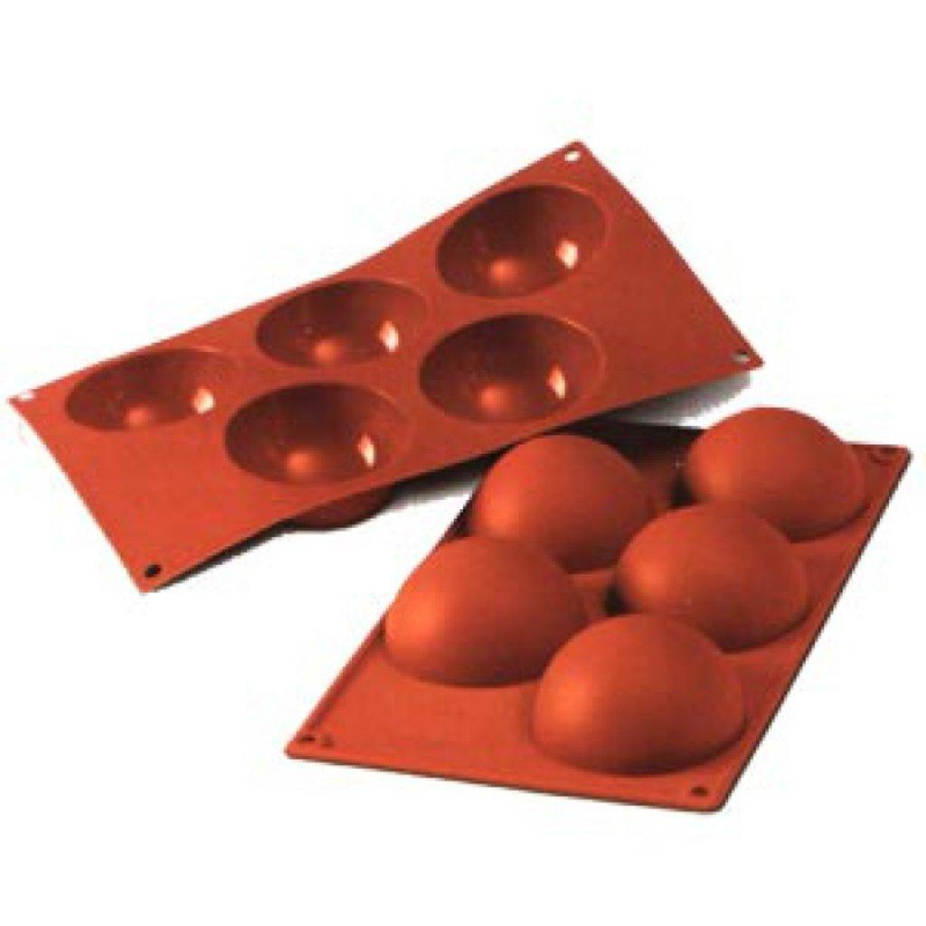3d формы: Форма силиконфлекс полусфера 5 ячеек в ТортExpress