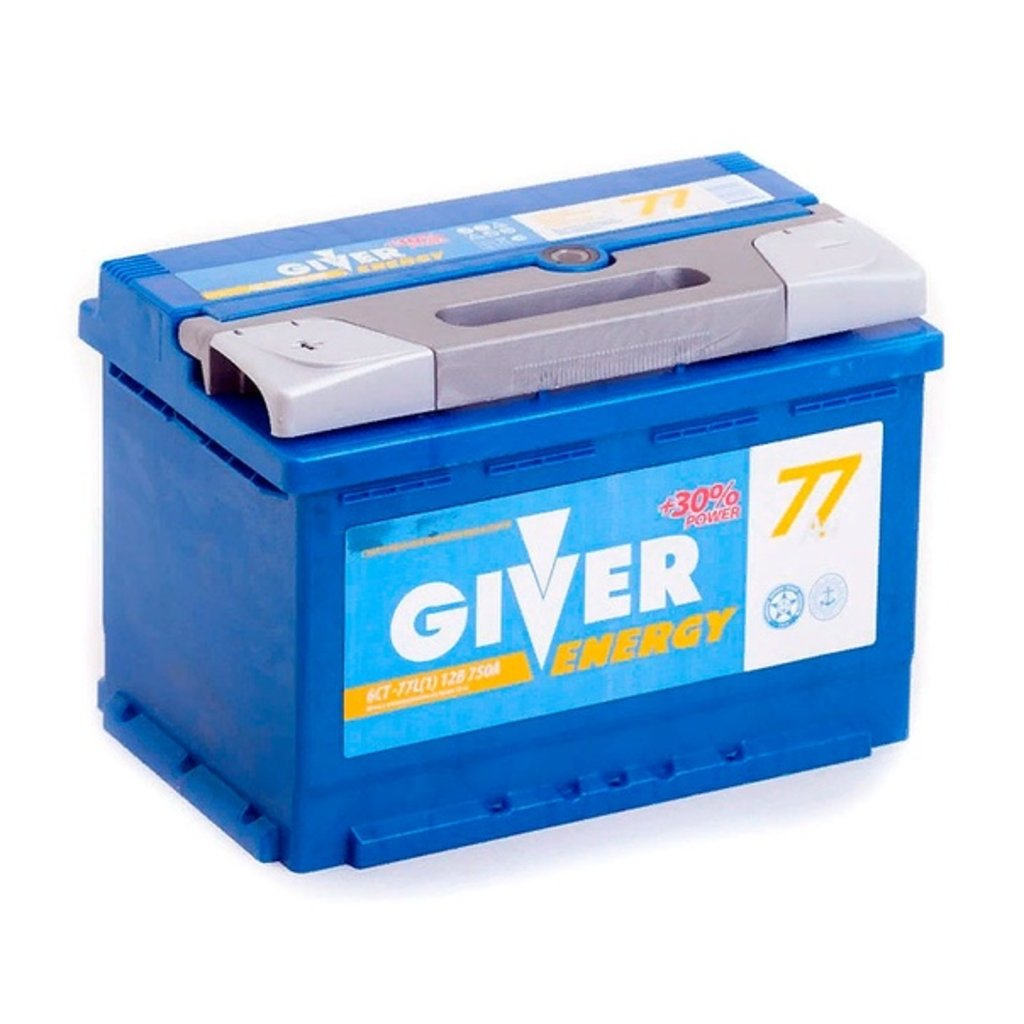 Giver: Аккумулятор GIVER ENERGY 6CT -77 в БазаАКБ