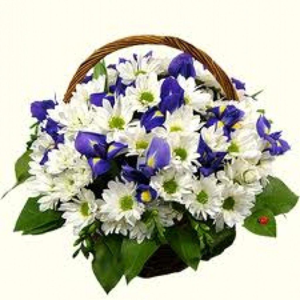 Композиции в корзинах: Для неё в Первый цветочный