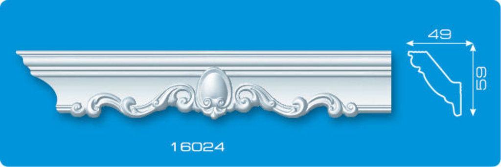 Плинтуса потолочные: Плинтус потолочный ФОРМАТ 16024 инжекционный длина 1,3м, средний в Мир Потолков