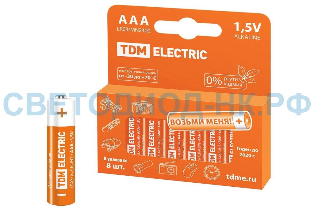 Элементы питания: Элемент питания LR03 AAA Alkaline 1.5V TDM в СВЕТОВОД