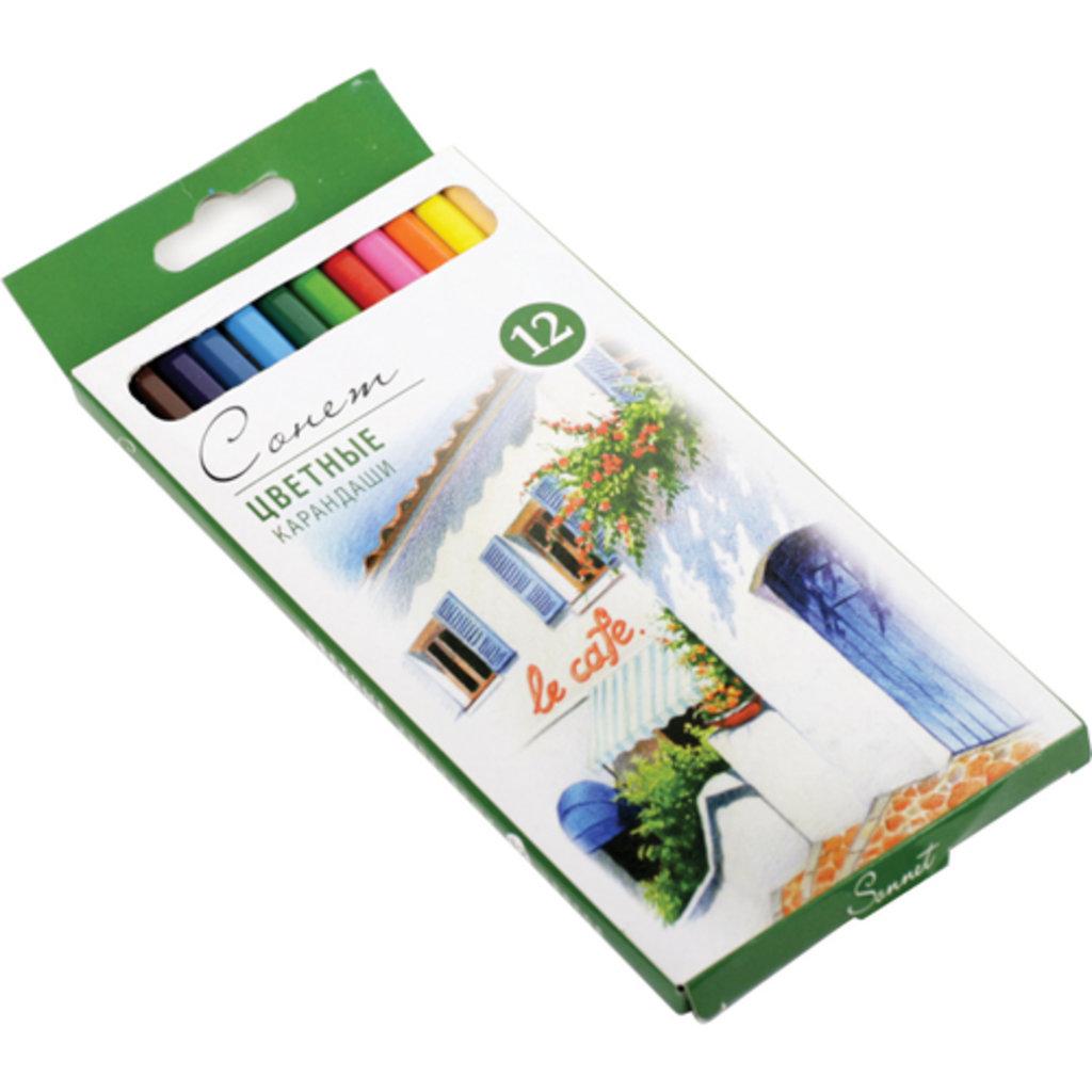 """Профессиональные цветные карандаши: Цветные карандаши """"Сонет"""" 12 цветов в Шедевр, художественный салон"""