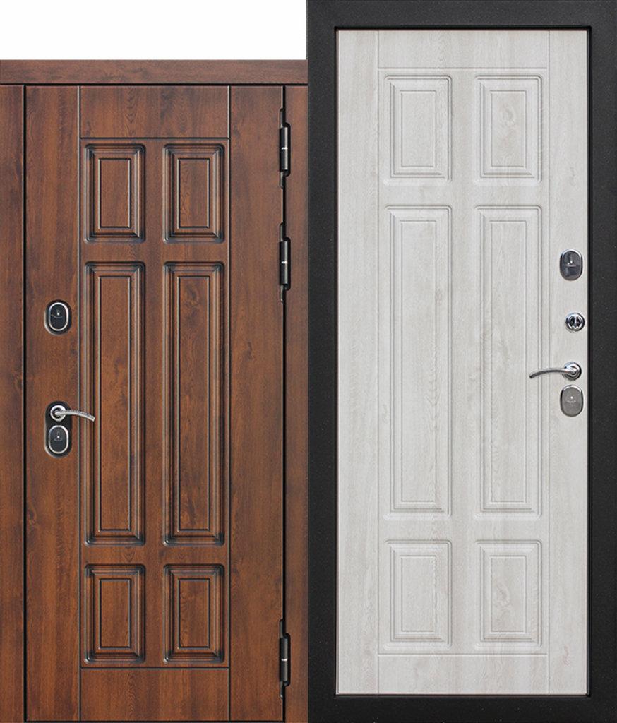Двери FERRONI: Входная морозостойкая дверь c ТЕРМОРАЗРЫВОМ 13 см Isoterma МДФ/МДФ Сосна белая  / Грецкий орех в Двери в Тюмени, межкомнатные двери, входные двери