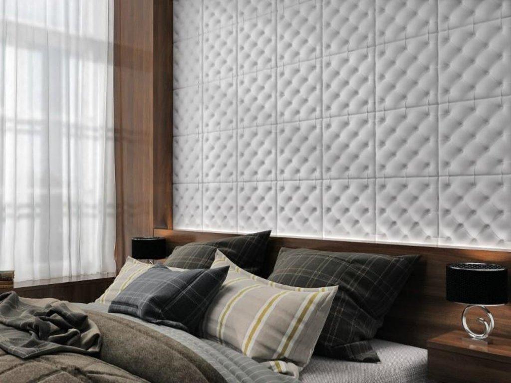 Кожаные стеновые панели: Кожаная 3D панель Carerra в Мир Потолков