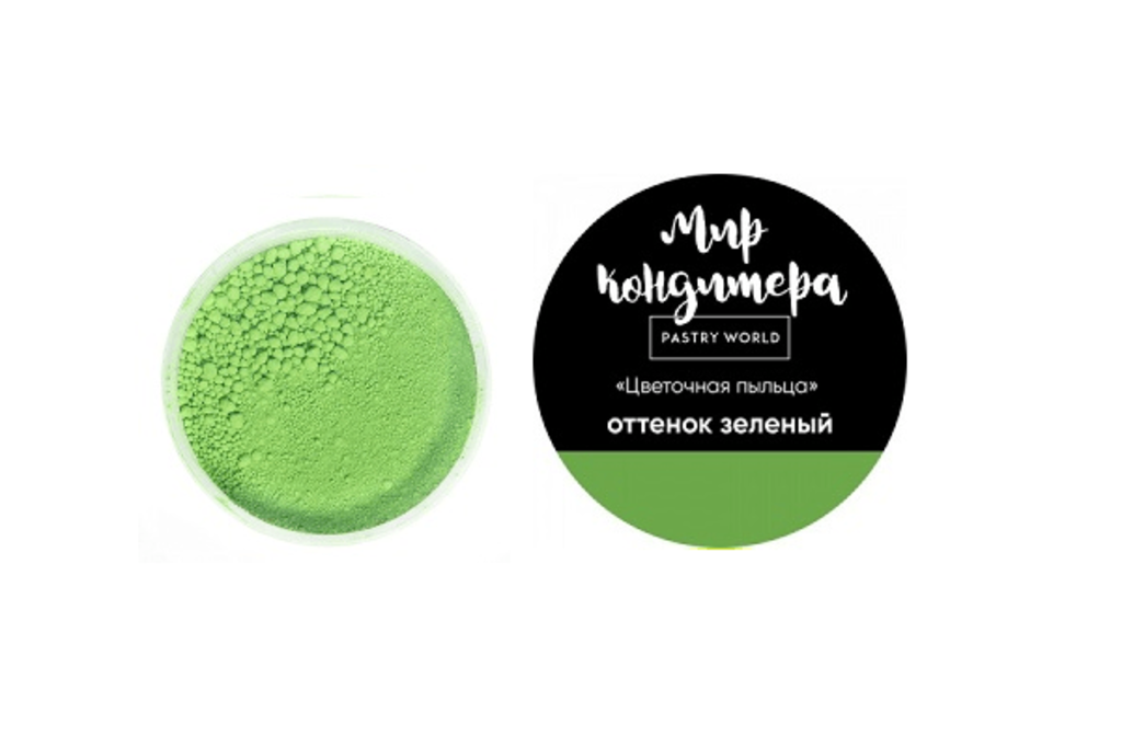 Ингредиенты: Цветочная пыльца, оттенок зелёный в ТортExpress