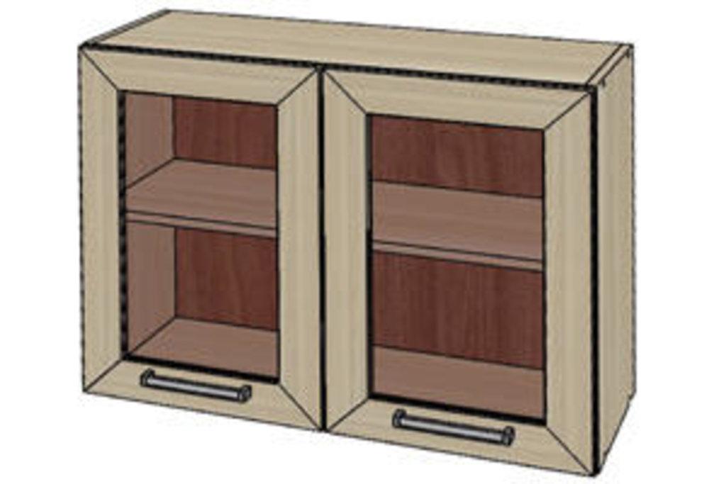 Мебель для кухни модульная серия Прага: Шкаф витрина 800. Кухня Прага в Уютный дом