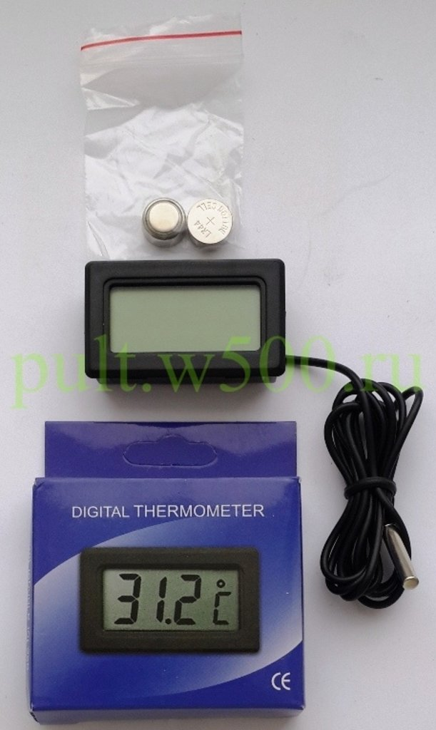 Бытовые проборы: Термометр комнатно-уличный PT-2 Thermo (с выносным датчиком) в A-Центр Пульты ДУ
