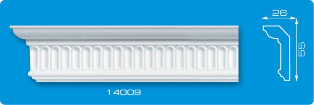 Плинтуса потолочные: Плинтус потолочный ФОРМАТ 14009 инжекционный длина 1,3м, средний в Мир Потолков