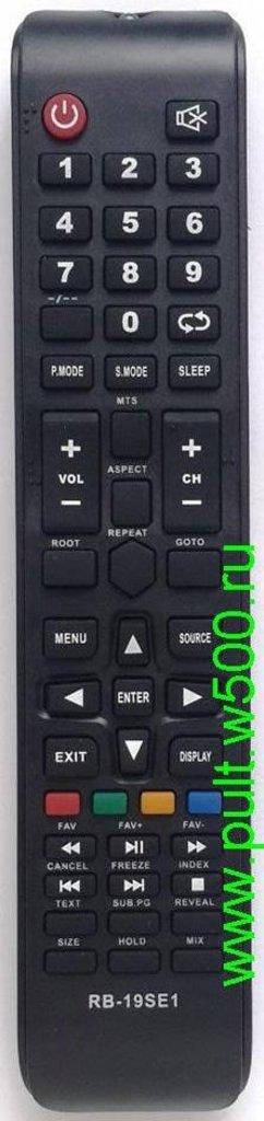 DEXP: Пульт DEXP 16A3000, 19A300 ( RUBIN RB-19SE1 ) (LCD) HUAYU в A-Центр Пульты ДУ