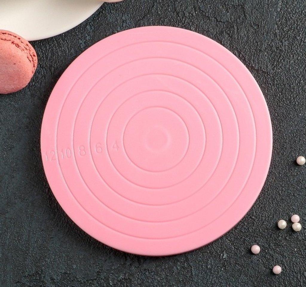 Подставки: Подставка для пирожного вращающаяся Матира 14х14х1,5 см в ТортExpress