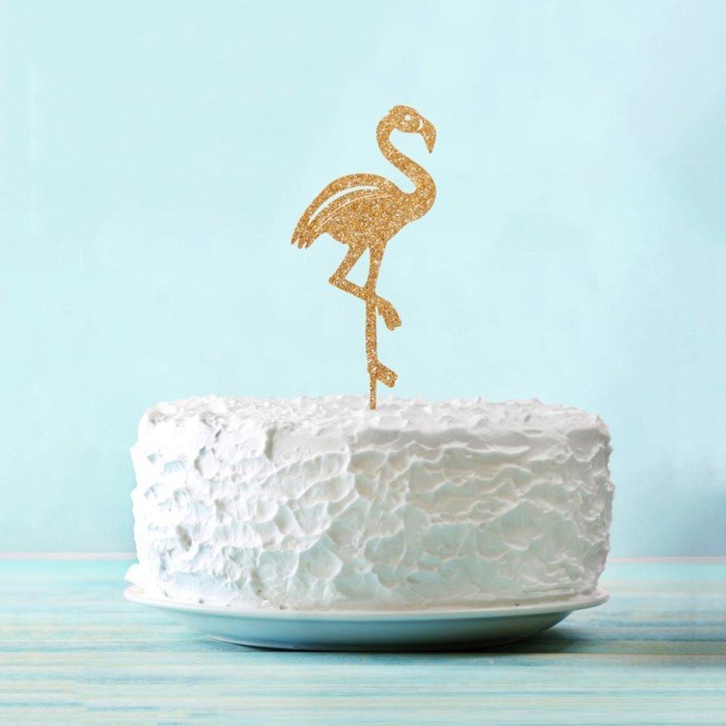 """Разные: Топпер """"Фламинго"""" цвет золото в ТортExpress"""