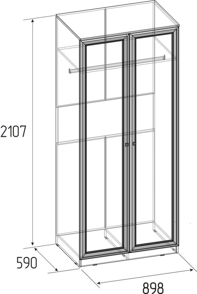 Шкафы для одежды и белья: Шкаф для одежды Paola 12 в Стильная мебель
