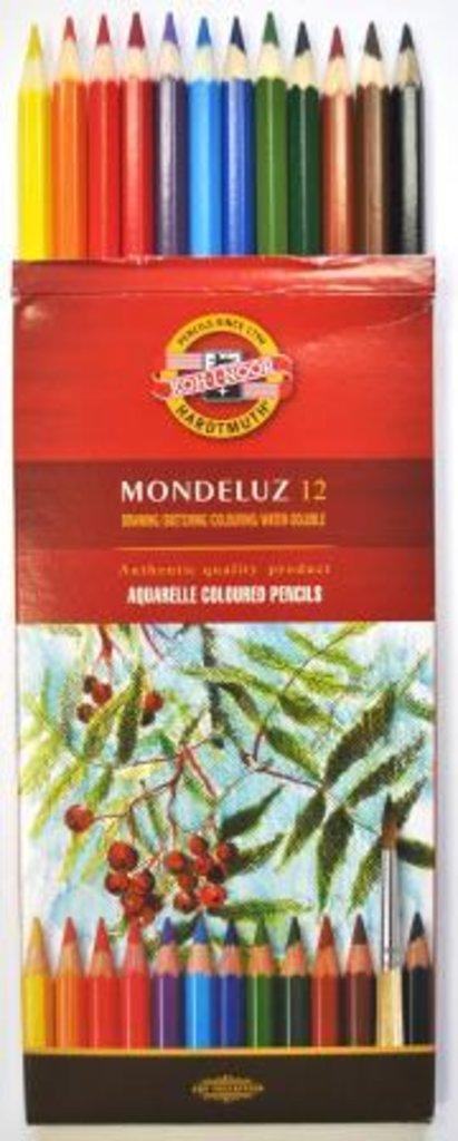 """Акварельные карандаши: Акварельные цветные карандаши """"Mondeluze"""" 12цв KON-I-NOOR в Шедевр, художественный салон"""
