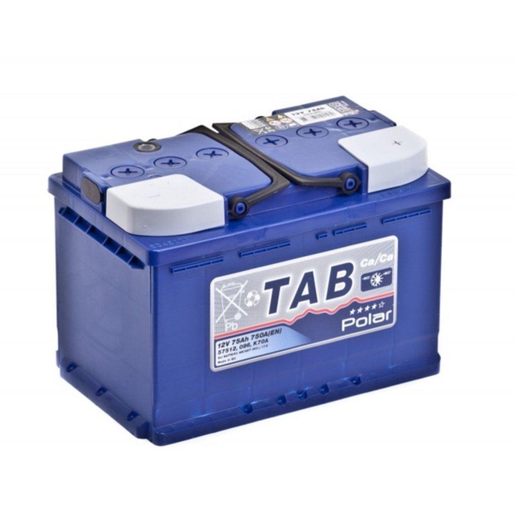 TAB: Аккумулятор TAB POLAR 6СТ- 75 в БазаАКБ
