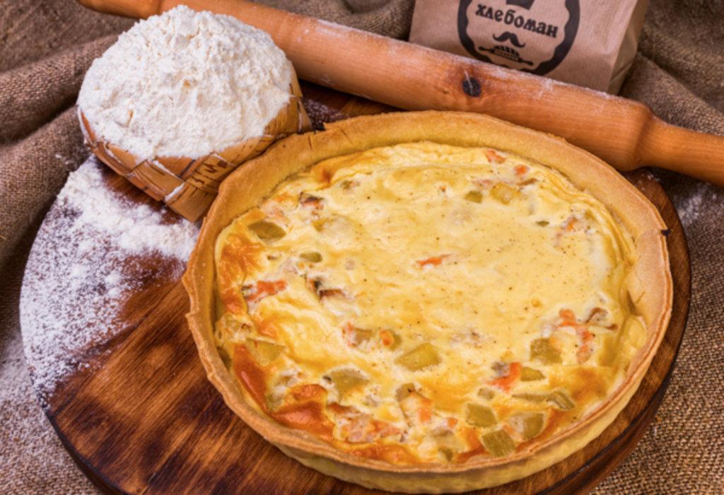 Киш Лорен: Киш с горбушей и картофелем в Хлебоман