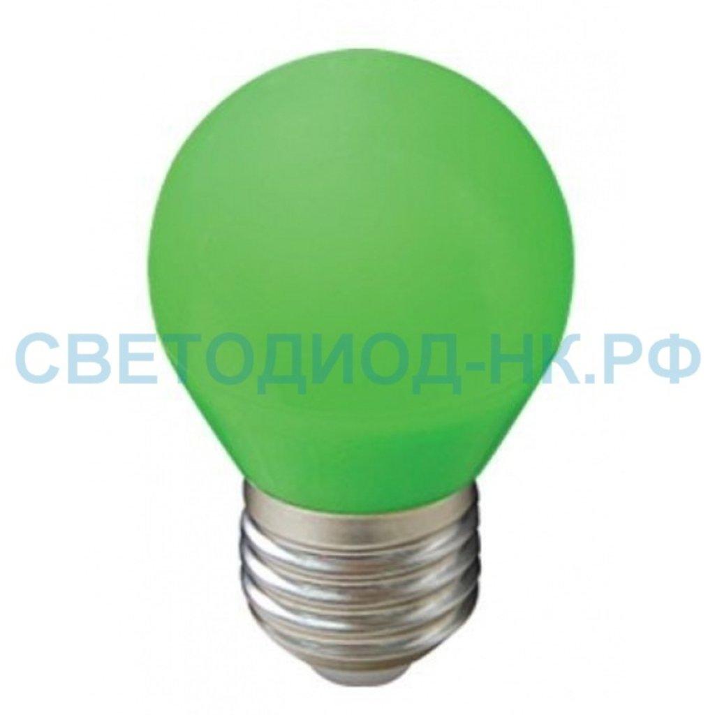 Цветные лампы: Светодиодная лампа Ecola шар G45 E27 5W Зеленый матовый 77x45 K7CG50ELB в СВЕТОВОД