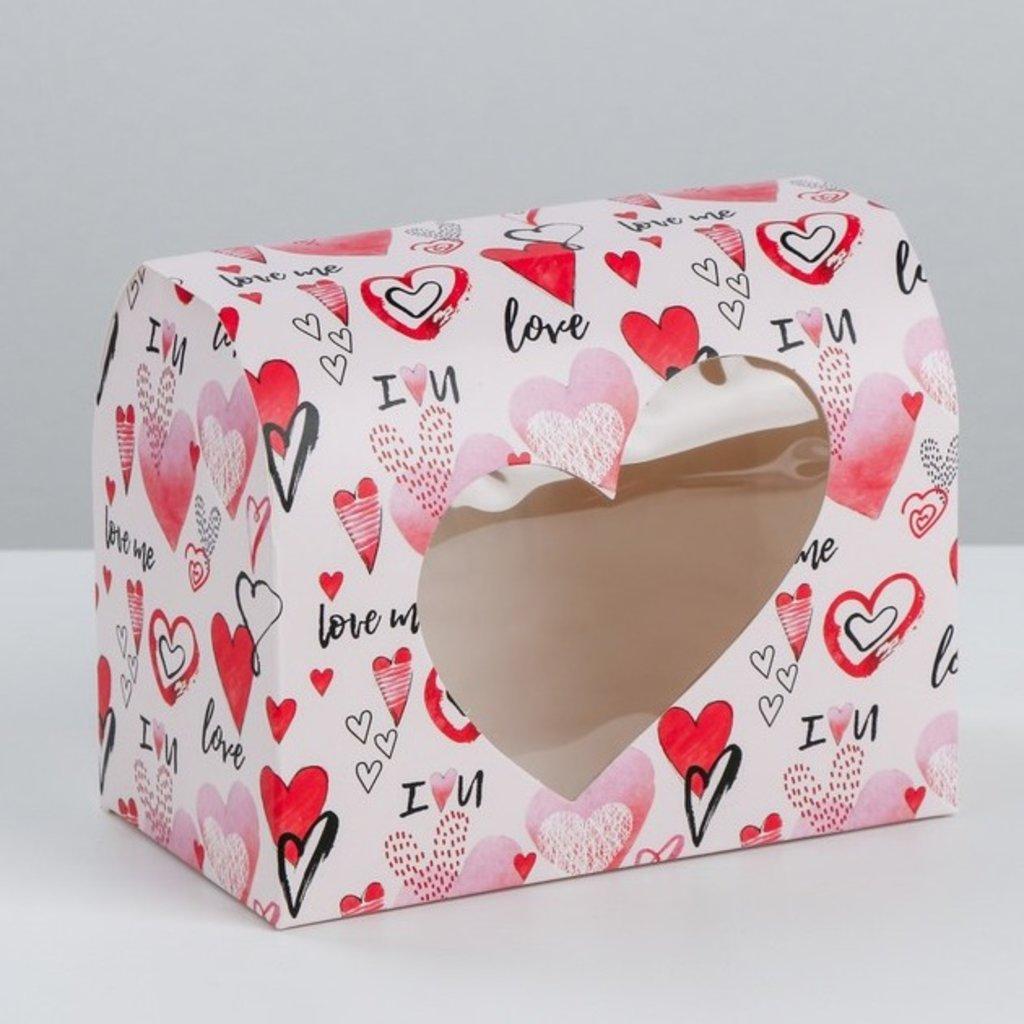 """Коробки для кондитерских изделий: Коробка под конфеты """"Люблю тебя"""", 14 х 10 х 8 см в ТортExpress"""