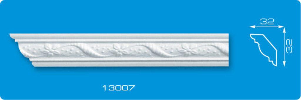 Плинтуса потолочные: Плинтус потолочный ФОРМАТ 13007 инжекционный длина 1,3м, узкий в Мир Потолков