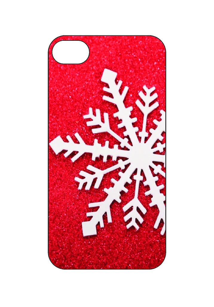 Выбери готовый дизайн для своей модели телефона: Снежинка в NeoPlastic