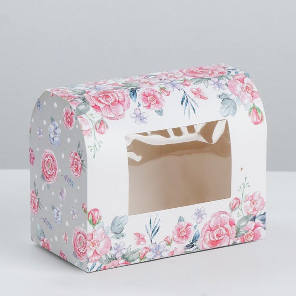 Коробки для кондитерских изделий: Коробка под конфеты «Нежности и любви», 14 × 10 × 8 см в ТортExpress