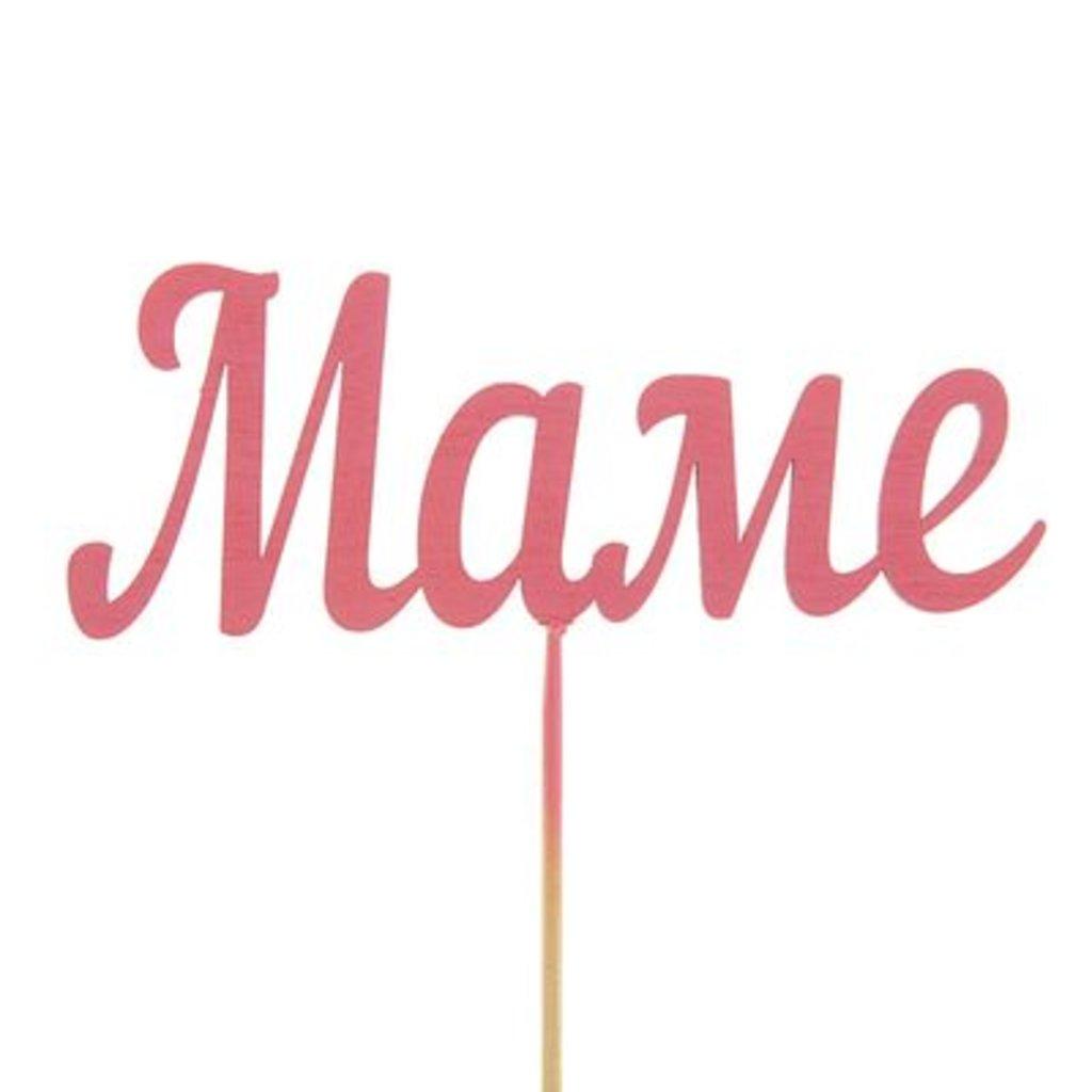 Родителям: Топпер «Маме» розовый в ТортExpress