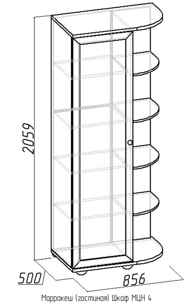 Шкафы, общие: Шкаф МЦН 4 Марракеш в Стильная мебель
