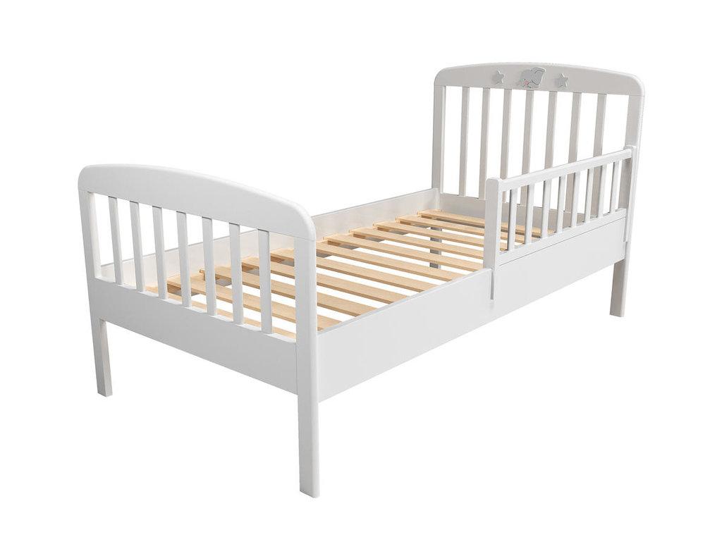 Детские и подростковые кровати: Кровать с ограничителем НМ 041.06+НМ 041.06-01 Лилу (800x1600, орт. осн. дерево) в Стильная мебель