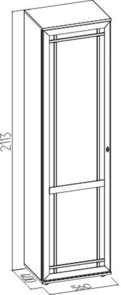 Шкафы для прихожих: Шкаф для одежды и белья левый Sherlock 71 в Стильная мебель