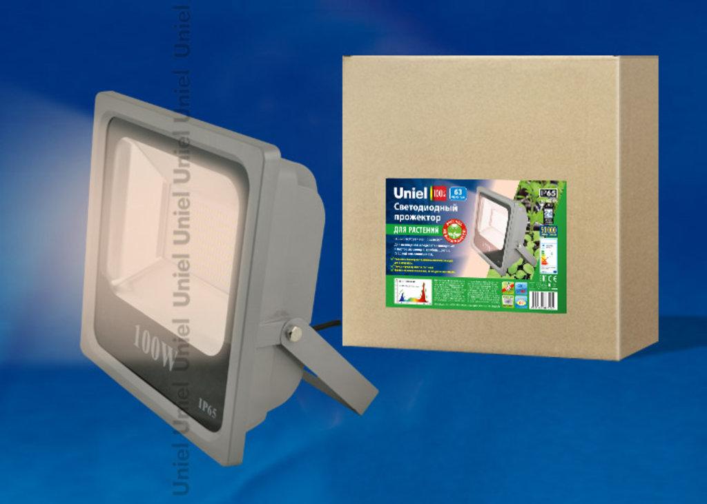 Фитолампы, фитосветильники: Светодиодный прожектор ULF-P40-50W/SPFR IP65 110-265В GREY в СВЕТОВОД