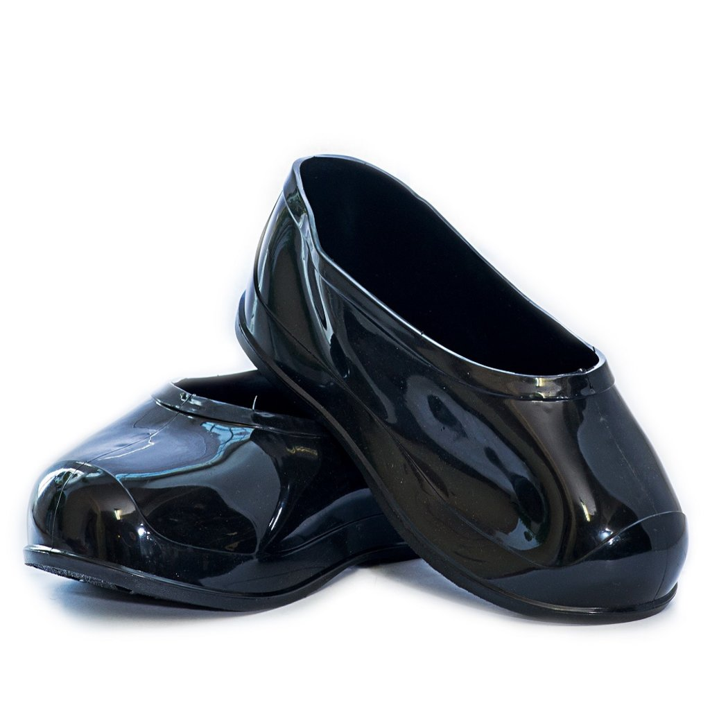 Обувь подростковая и детская: Галоши ПВХ черные на валенки в Сельский магазин