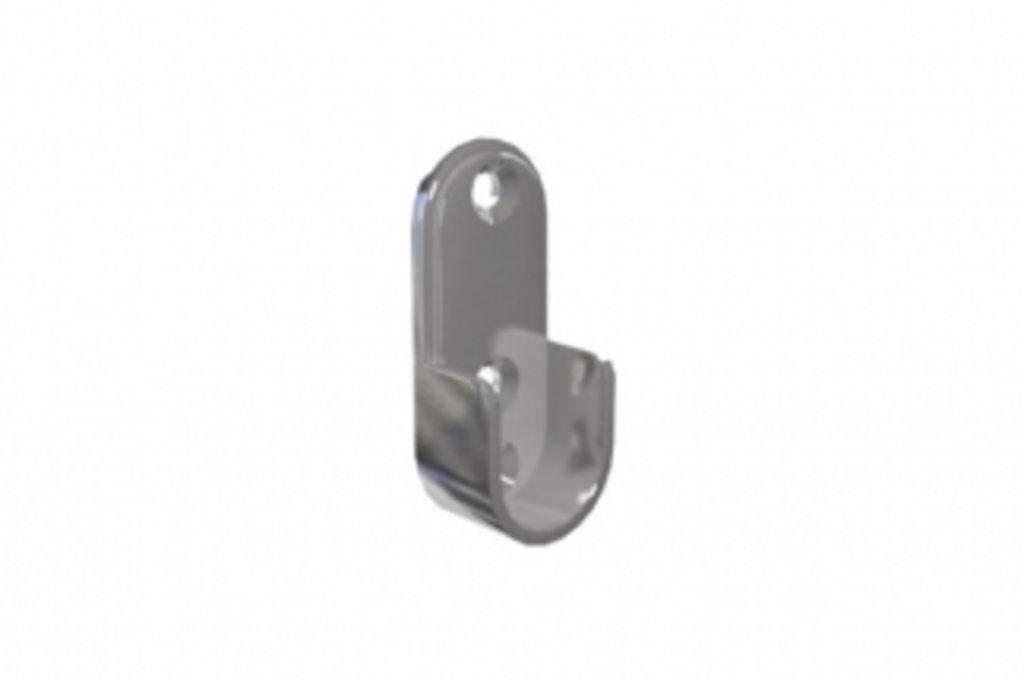 Аксессуары для шкафов: Держатель штанги 15х30, отделка никель в МебельСтрой