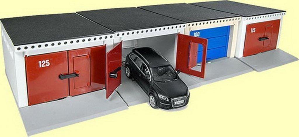 Игрушки для мальчиков: Гараж с распашными воротами (Для масштабных моделей) С-191-Ф в Игрушки Сити