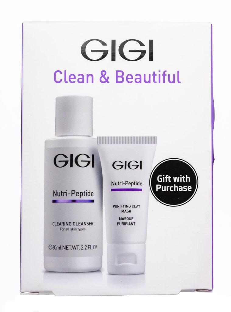 Дорожный набор: Дорожный набор для идеально чистой кожи / Clean & Beautiful, Nutri-Peptide, GiGi (Джи Джи) в Косметичка, интернет-магазин профессиональной косметики