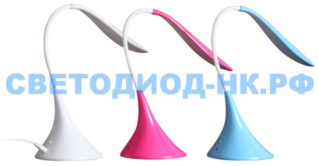 Настольные лампы, ночники: Лампа настольная СПУТНИК DL319LED голубой в СВЕТОВОД