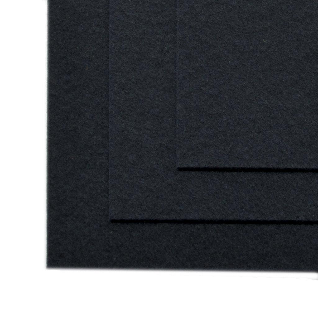 Фетр: IDEAL Фетр жёсткий 1мм 20*30см черный 1лист в Шедевр, художественный салон