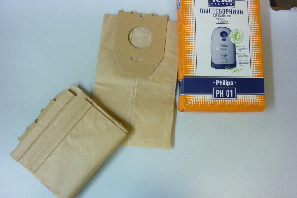 Запчасти для пылесосов: Пылесборники (бумажные мешки) для пылесосов Philips (Филипс) PH01 в АНС ПРОЕКТ, ООО, Сервисный центр