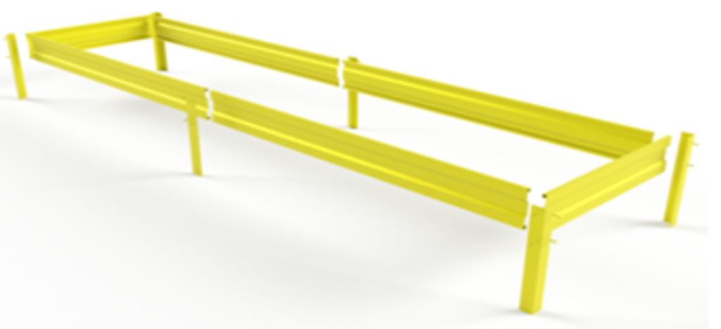 Полосы для гряд: Металлическая гряда 1м*2м. в БазаАКБ